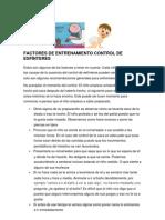 FACTORES DE ENTRENAMIENTO CONTROL DE ESFÍNTERES