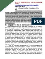 NOAM CHOMSKY EL OBJETIVO DE LA EDUCACIÓN ES LA DESEDUCACIÓN