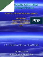 LA TEORIA DE LA FIJACIÓN