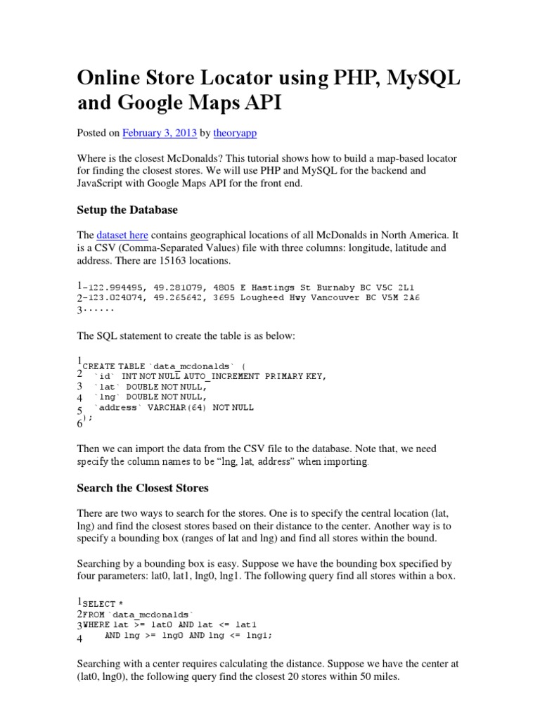 Online Store Locator Using PHP, MySQL and Google Maps API ... on google map tracking, google map key, google map logo, google map navigation, google site map, google map online, google map filter, google map messages, google company locations map, google map drop, google map history, google map listing, google map vehicle, google map legend, google map gps, google map scale, google map city, google map button,
