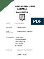 COMPETITIVIDAD AGRÍCOLA - ESPÁRRAGO