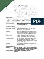 Franklin Paul Curriculum Vitae