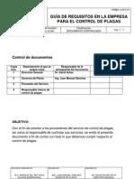 Requisitos Para El Control de Plagas