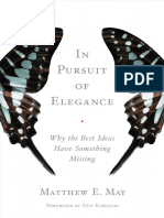 In Pursuit of Elegance, by Matthew E. May - Excerpt