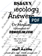 Dr.moslim Obs & Gyn Answers Guide