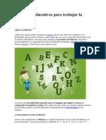 7 Recursos Educativos Para Trabajar La Dislexia