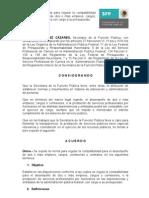 PROYECTO DE LA NORMA PARA REGULAR LA COMPATIBILIDAD DE DOS O MÁS EMPLEOS