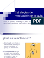 Técnicas de  motivación en el aula