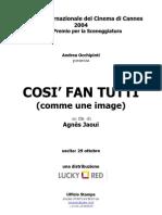 Cosi Fan Tutti (Comme une image) by Agnes Jaoui - pressbook in italian