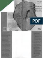 Tello Epistemologías de la política educativa. Libro 2013