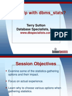 What's Up With Dbms_stats