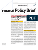 Health Insurance Exchanges and State Decisions