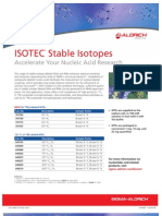 ISOTEC Stable Isotopes - Accelerate Your Nucleic Acid Research