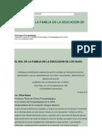 EL ROL DE LA FAMILIA EN LA EDUCACIÓN DE LOS HIJOS