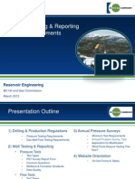 Well Testing and Reporting Overview Powerpoint Presentation April Release 2013