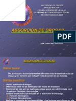 Absorcion de Drogas