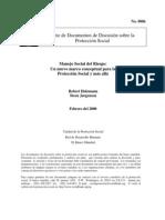 Manejo Social Del Riesgo - Un Nuevo Marco Conceptual Para La Proteccion Social y Mas Alla