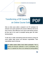 Transforming a F2F Course Outline Into an Online Course Outline