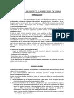 Lectura Residente e Inspector de Obras 2013