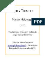 Heidegger Ser y Tiempo