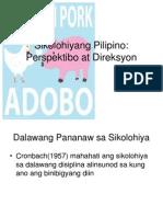 Sikolohiyang Pilipino Perspektibo at Direksyon