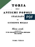 Giuseppe Micali - Storia Degli Antichi Popoli Italiani Vol. 3 (1832)