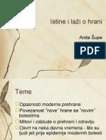 Anita Šupe-Istine i laži o hrani
