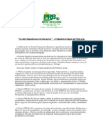 Conheça o Núcleo PRB Afro RJ - Carta de Apresentação