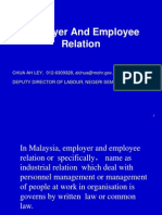 Empolyer and Employee Relation