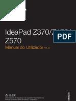 Lenovo IdeaPad Z370Z470Z570 User Guide V1.0 (Portugues)