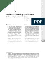 Historia y El Concepto de Critica Postoclonial