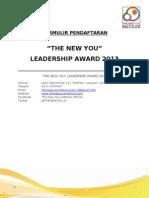 Form Pendaftaran Leadership Award 2013