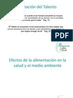 Efectos de La Alimentacion en La Salud y El Medio Ambiente.