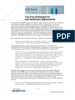 Top Five Challenges for Wireless Healthcare Deployments