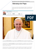 As lições de liderança do Papa Francisco - Artigos - Administração e Negócios - Administradores