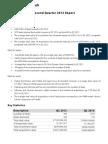Quarterly Report Q2 2013