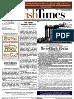 Jewish Times - Volume I,No. 11...April 19, 2002