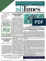 Jewish Times - Volume I,No. 12...April 26, 2002