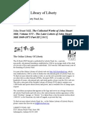 16 STUART INGLES John Letters MILL Later of The Volume QCxthdsr