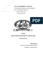 Software Development Lab Manual