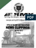 26 Jul 13 Newsclippings
