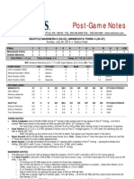07.28.13 Post-Game Notes