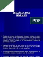 EFICÁCIA DAS NORMAS