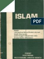 ISLAM [ Pidato Di Sialkot ]-Hadhrat Mirza Ghulam Ahmad As