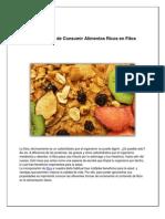 7 Beneficios de Ingerir Alimentos Con de Fibra