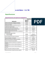 Sistema Mecanico Del Motor 1.4 L TBI 2000-01 Chevy