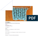 Cell Lace Stitch