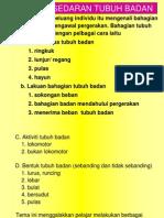 Tema 1. Kesedaran Tubuh Badan