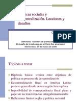Descentralizacion en Am Lat2008