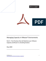 Five Practices to Optimize VMware Capacity